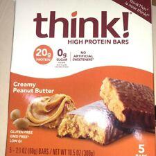 High Protein Bars, Creamy Peanut Butter, 5 Bars, 2.1 oz (60 g) Each