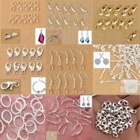 925 Sterling Silver Earring Hooks Ball DIY Jewelry Accessory Wire Findings