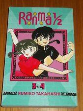 Ranma 1/2: #3-4 by Rumiko Takahashi (Paperback, 2014) < 9781421565958