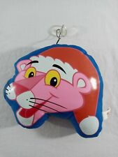 Vintage 1996 Santa Xmas Pink Panther Stuffed Window Cling Hanger w/ Suction Cup