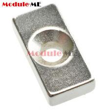 10PCS Super Strong Neodymium Block Magnets Hole Rare Earth N50 Grade 20×10×5mm