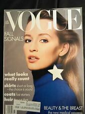 VINTAGE VOGUE MAGAZINE July 1986 Estelle Lefebure cover by Richard Avedon