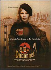 1980 Pia Zadora Dubonnet Wine Cocktail cat nyc vintage photo print ad ads42
