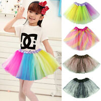 Baby Girls Kids Fluffy Pettiskirt Tutu Dancewear Princess Party Skirt Dress 1-6Y
