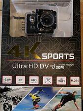 "BLACK WIFI 4K 2"" 1080P Sports Camera Ultra HD  Action DV 16MP & ACCESSORIES BNIB"
