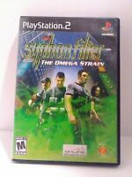 Syphon Filter: The Omega Strain (Sony PlayStation 2, 2004) Game & Case Tested