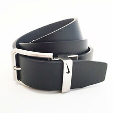 NIKE GOLF MEN'S LOOP CUTOUT REVERSIBLE BELT SIZE W36 (FITS 34) BLACK/GRAY 18180