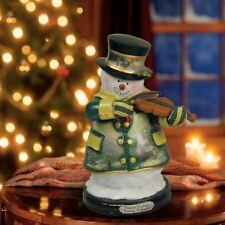 Thomas Kinkade Figurine -  EVENING REHEARSAL Snowman New Item 1513888008 COA