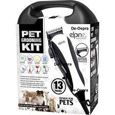 13PC Professional Pet TOSATRICE KIT per la cura degli animali CANE GATTO pelo Trimmer Barba