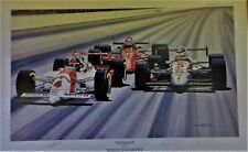 Emerson Fittipaldi signed  limited edition Indy500 art print by Colin Carter
