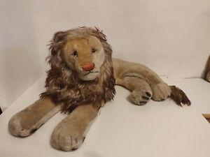 Steiff alter Löwe liegend 65cm 50er oder 60er Jahre