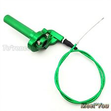 Vert CNC Twist Poignée +Câble D'accélérateur Pour XR CRF 50 SSR KLX Dirt Bike