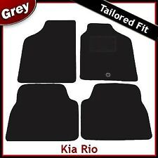 Kia Rio (2001 2002 2003 2004 2005) Tailored Fitted Carpet Car Mats GREY