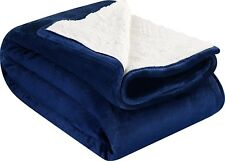 Sherpa Flannel Soft Lightweight Fleece Thermal Brush Fabric Throw Blanket