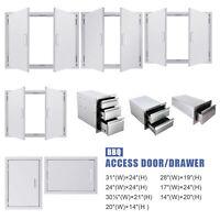 Outdoor Kitchen Cabinet Door Stainless Steel Access Door for BBQ Grills 14''31''
