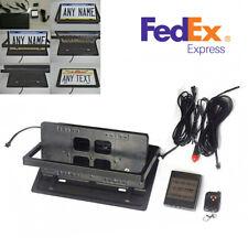 Usa Standard Size Remote Control Flip Flipper Retractable License Plate Frame