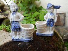 Paire de biscuits enfants balayeurs hollandais époque 1900 -20 jardinières