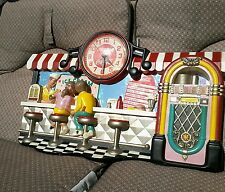 Coca-Cola Ice Cream Soda Fountain Shop Jukebox Diner Wall Clock 1950's Decor 🍦