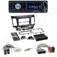 Caliber RMD021 USB/SD-Radio + Mitsubishi Lancer(CYO )Blende black + ISO Adapter