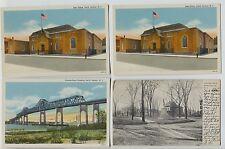 3 Vintage Linen & 1908 Perth Amboy  New Jersey NJ Postcards