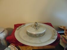 VINTAGE HAND WROUGHT CREATIONS BY RODNEY KENT- Serving Bowl w/ Lid Hammered Alum