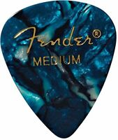 Fender 351 Premium Celluloid Guitar Picks - MEDIUM, OCEAN TURQ 12-Pack (1 Dozen)