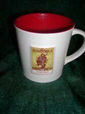 starbucks coffee mug, sumatra extra bold, white with red interior