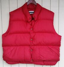 Vintage LL Bean Mens Goose Down Puffy Vest Red XXL 2XL Packable
