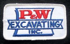 PW EXCAVATING EMBROIDERED SEW ON ONLY PATCH PENNSYLVANIA COMPANY 4 1/4 x 2 1/2