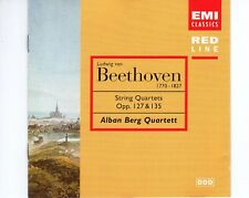CDALBAN BERG QUARTETTstring quartets opp 127 & 135BEETHOVENEMI CLASS (R2520)