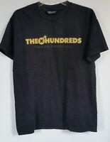 Men's T-Shirt Sz M Black with The Hundreds Logo Short Sleeve Crew Neck Stretch