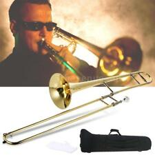New Beginner Alto Trombone Brass Gold Lacquer Bb Tone B flat CASE STUDENT M1I7