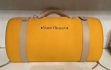 New listing Veuve Clicquot Champagne Traveler Bag Carry Case with 2 Glasses