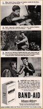 1943  Band-Aid Injured Family Mom uses Band-Aids Print Ad