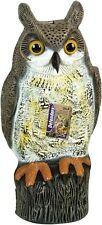 """Decoy Owl Fascia Bird Scarer Deterrent Garden Ornament 17"""""""