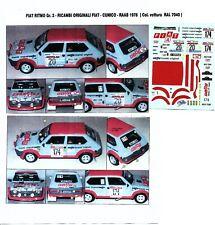Decal - Fiat  RITMO Gr.2 - LUCKY - Rally Omloop Van Vlaanderen  1982