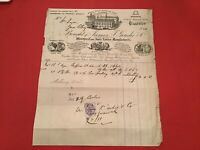 James T Goudie & Co 1880 Glasgow Hose Pipes Tubing Buffers  receipt R35736