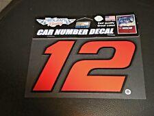 "RYAN BLANEY #12 NASCAR  6"" X 4"" CAR NUMBER DECAL TEAM PENSKE"