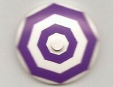 LEGO - Dish 4 x 4 Inverted (Radar) with 2 Dark Purple Octagonal Circles