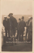 WW1 postcard of soldiers searching Turkish prisoners on ship REVENGE, scarce
