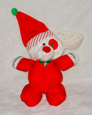 Fisher Price Puffalump Christmas Puppy Dog Red White Sleeper 1991 Baby First Toy