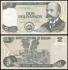 Bolivia 2 BOLIVIANOS Serie B 1990 P 202b UNC