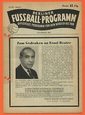 Orig. PRG 03.10.1953 Berlin contract League-All games, brackets, etc.