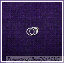 BonEful Fabric FQ Cotton Quilt Purple Tone Solid Tweed Sm Stripe Texture Blender