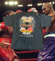 Vintage Evander Holyfield VS Lennox Lewis 1999 Boxing Shirt SIze XL Vtg Rare Htf