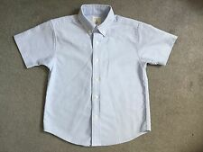 LAND'S END BLUE SHORT SLEEVE SHIRT IN OXFORD STYLE & BUTTON DOWN COLLAR AGE 4-5y