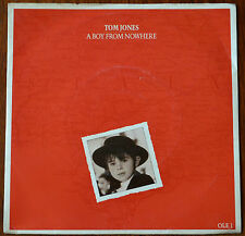 "Tom Jones ‎– A Boy From Nowhere 7"" Picture Sleeve – Very Good"