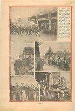 Bruxelles Parade Militaire Albert I Belgique/Paquebot le Normandie Chantier 1934