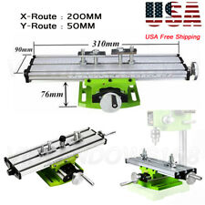 X Y Axis Mini Bench Cross Slide ViseTable Milling Drilling Fixture Worktable