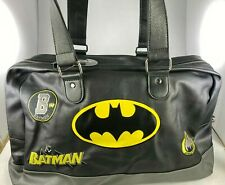 """CONCEPT ONE BRAND NEW BATMAN LIFESTYLE 18"""" DUFFEL BAG RETRO STYLE EMBROIDERED"""